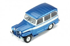 JEEP WILLYS STATION WAGON 1960 METALLIC BLUE/WHITE