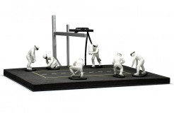PITSTOP Mechanic Set with 6 Figurines + Post and Cables - white